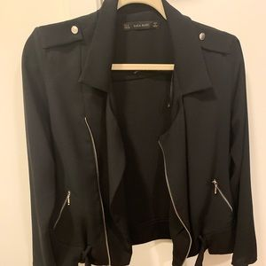 Zara light black jacket size Small